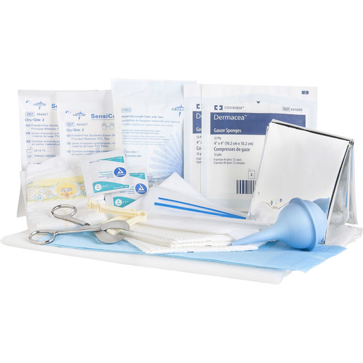 Curaplex® OB Kit, Poly Bagged w/ Umbilical Scissors, Latex-Free