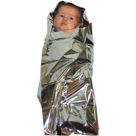 Foil Baby Bunting, Sterile