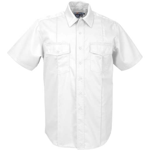 5.11® Men's Station Non-NFPA Class A Short Sleeve Shirt, Regular, White, XL
