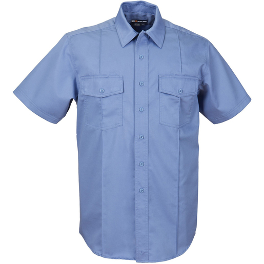 5.11® Men's Station Non-NFPA Class A Short Sleeve Shirt, Regular, Fire Med Blue, XL