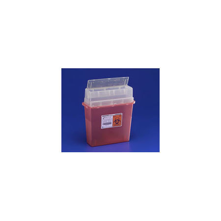 Sharps-A-Gator Multi-purpose Sharps Container, 5qt, Transparent Red
