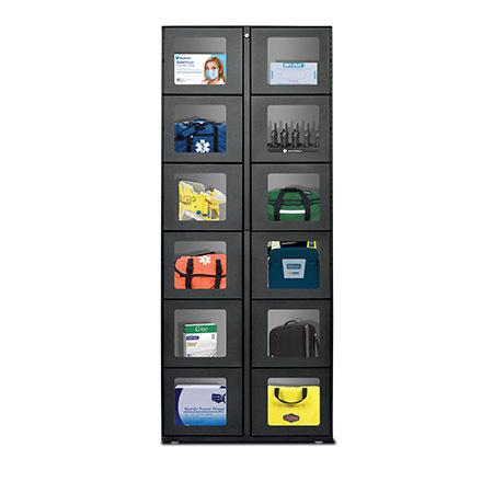 12 Door Satellite Or 11 Door Standalone Power Outlet Option, All Locker Bays