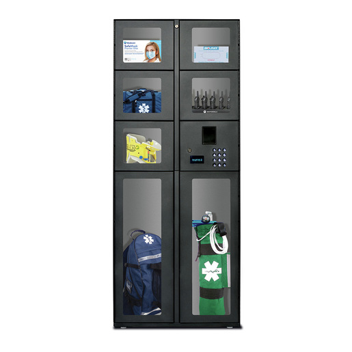 7 Door Stand Alone Locker Unit with Pinpad/barcode reader