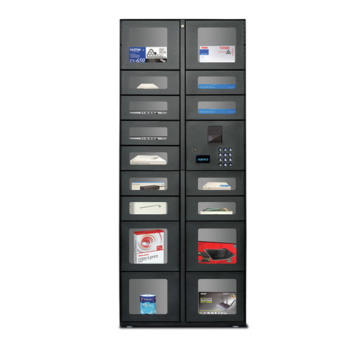 7 Door Standalone Locker Unit w/ Pinpad/Magnetic Stripe Reader
