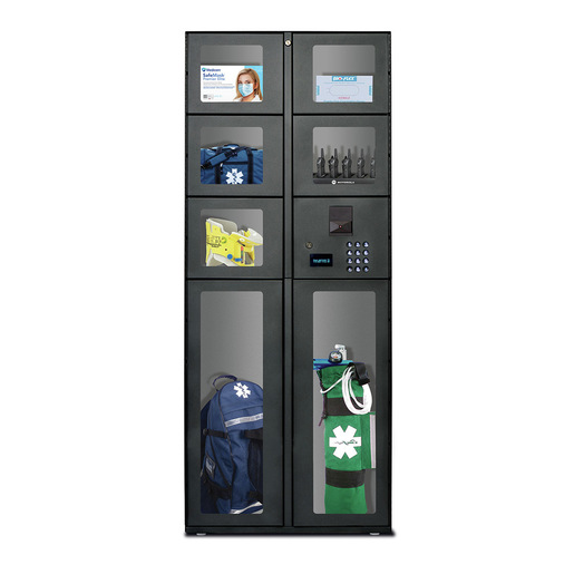 7 Door Stand Alone Locker Unit with Pinpad, Proximity Rfid Reader