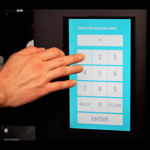 Touch Screen Upgrade for CAP or Locker Machine, Replaces Pin Pad