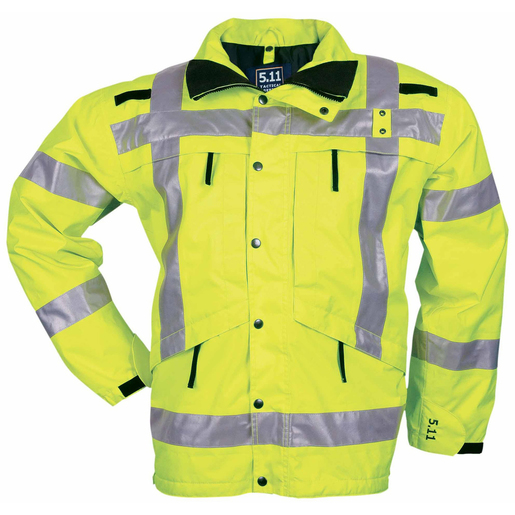 5.11® Men's Reversible Hi-Visibility Parka, Yellow, 4XL