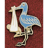Uniform Service Pin, Blue Stork with Tack Clasp