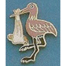 Uniform Service Pin, Pink Stork with Tack Clasp