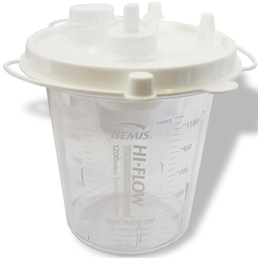 Bemis Hi-Flow Suction Canister, 1200cc