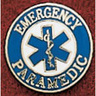Uniform Service Pin, 3/4in Diameter, Round, Emergency Paramedic with Star Of Life