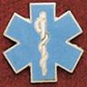 Uniform Service Pin, Star of Life Diecut