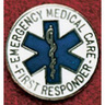 Uniform Service Pin, 1in Diameter, Round, Emergency Medical Care First Responder