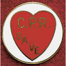 Uniform Service Pin, 3/8in x 1 3/4in, CPR Save