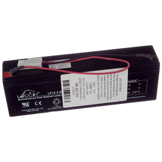 Replacement Battery For S-SCORT 9 2109 or Sentinel 2500 Suction Unit