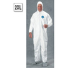 Tyvek Zip Coverall with Hood, Boots and Elastic Wrists, 2XL