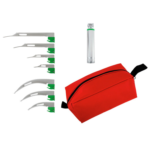 Curaplex® Select Greenline/D Fiber Optic Laryngoscope Blade Kit