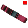 1-piece Nylon Restraint Strap with Plastic Side Release Buckle, 9ft L x 2in W, Red