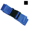 2-piece Nylon Restraint Strap with Plastic Side Release Buckle and Loop Ends, 5ft L x 2in W, Black