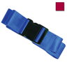 2-piece Nylon Restraint Strap with Plastic Side Release Buckle and Loop Ends, 5ft L x 2in W, Maroon