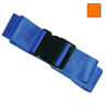2-piece Nylon Restraint Strap with Plastic Side Release Buckle and Loop Ends, 5ft L x 2in W, Orange