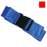 2-piece Nylon Restraint Strap with Plastic Side Release Buckle and Loop Ends, 5ft L x 2in W, Red
