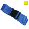 2-piece Nylon Restraint Strap with Plastic Side Release Buckle and Loop Ends, 5ft L x 2in W, Yellow
