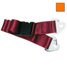2-piece Nylon Restraint Strap with Plastic Side Release Buckle and Non-swivel Speed Clip Ends, 5ft L x 2in W, Orange