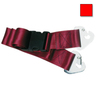 2-piece Nylon Restraint Strap with Plastic Side Release Buckle and Non-swivel Speed Clip Ends, 5ft L x 2in W, Red