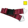 2-piece Nylon Restraint Strap with Plastic Side Release Buckle and Non-swivel Speed Clip Ends, 5ft L x 2in W, Yellow