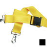 2-piece Nylon Restraint Strap with Plastic Side Release Buckle and Metal Swivel Speed Clip Ends, 5ft L x 2in W, Black