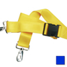 2-piece Nylon Restraint Strap with Plastic Side Release Buckle and Metal Swivel Speed Clip Ends, 5ft L x 2in W, Blue