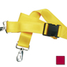 2-piece Nylon Restraint Strap with Plastic Side Release Buckle and Metal Swivel Speed Clip Ends, 5ft L x 2in W, Maroon