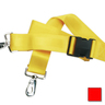 2-piece Nylon Restraint Strap with Plastic Side Release Buckle and Metal Swivel Speed Clip Ends, 5ft L x 2in W, Red