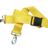 2-piece Nylon Restraint Strap with Plastic Side Release Buckle and Metal Swivel Speed Clip Ends, 5ft L x 2in W, Yellow