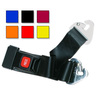 2-piece Nylon Restraint Strap with Metal Push Button Buckle and Non-swivel Speed Clip Ends, 5ft L x 2in W, Black