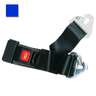 2-piece Nylon Restraint Strap with Metal Push Button Buckle and Non-swivel Speed Clip Ends, 5ft L x 2in W, Blue