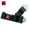 2-piece Nylon Restraint Strap with Metal Push Button Buckle and Non-swivel Speed Clip Ends, 5ft L x 2in W, Maroon