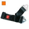 2-piece Nylon Restraint Strap with Metal Push Button Buckle and Non-swivel Speed Clip Ends, 5ft L x 2in W, Orange