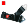 2-piece Nylon Restraint Strap with Metal Push Button Buckle and Non-swivel Speed Clip Ends, 5ft L x 2in W, Red