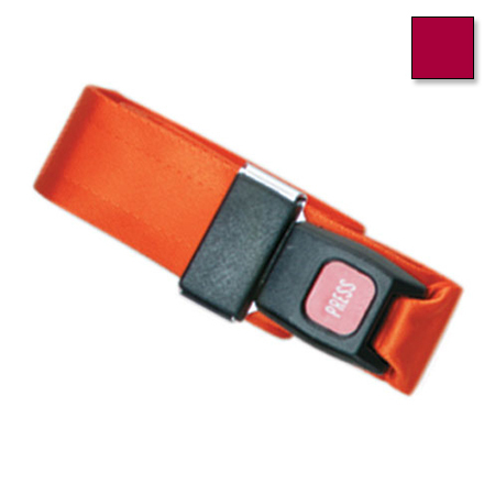 Metal Push Button Buckle Two Piece w/Loop End Straps, 5 Feet