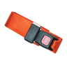 2-piece Nylon Restraint Strap with Metal Push Button Buckle and Loop Ends, 5ft L x 2in W, Orange