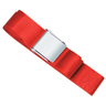 1-piece Nylon Restraint Strap with Metal Cam Buckle, 9ft L x 2in W, Red