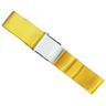 2-piece Nylon Restraint Strap with Metal Cam Buckle and Loop Ends, 5ft L x 2in W, Yellow