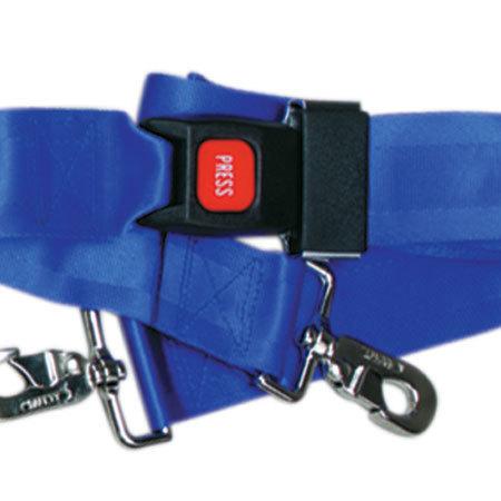 Metal Push Button Buckle Two Piece w/Swivel Speed Clip Strap