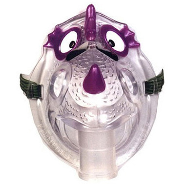 Nic the Asthmatic Dragon Mask, Plastic, Pediatric (No Neb)