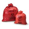 Biohazardous Waste Bag, Red with Black, 33gal, 33in x 39in, 1.2mil Gauge