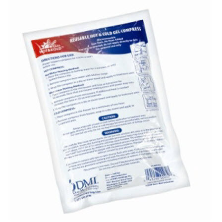 *Discontinued* DMI® Hot & Kold® Reusable Back Gel Compress, 8in x 11in, White