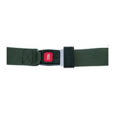 Metal Push Button Buckle Strap with Loop Ends, 5ft, 2 Piece, Olive Drab