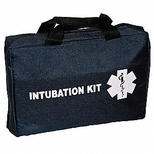 Intubation Kit Bag, Navy, Polyester, Padded